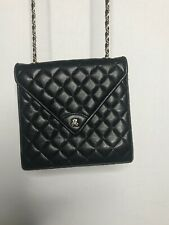 Jay Herbert New York Vintage Black Gold Quilted Leather Bag Crossbody Purse