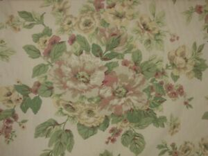 Vintage Schumacher Gramercy SUN PORCH FLORAL Drapery Curtain Sewing Fabric BTY