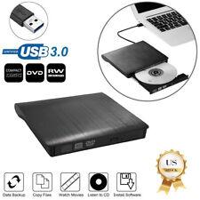 Slim External Usb 3.0 Dvd Rw Cd Writer Drives Burner Reader Player for Laptop Pc