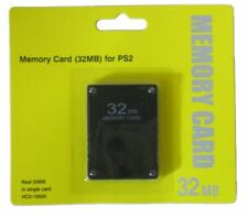 Memory card for PS2 Slim PlayStation 32MB retail pack sealed new ZedLabz