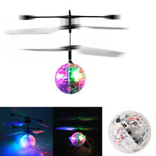 Flash Flying Ball Infrared Induction Colorful LED Disco RC Helicopter kids Toy Z