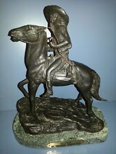 "VINTAGE FREDERIC REMINGTON BRONZE  STATUE ""SCOUT"" WESTERN ART SCULPTURE"
