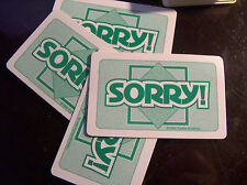 Sorry Cards Green game drawing deck 45 cards replacement pieces/parts Full Set
