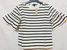 BNWT  J. CREW striped top with ruffled sleeve