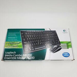 New Logitech Media Combo MK200 Full-Size Keyboard
