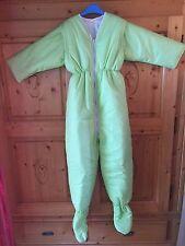 Winter Schlafsack mit Beinen und Armen Overall 134/140 NEU Vichy grün