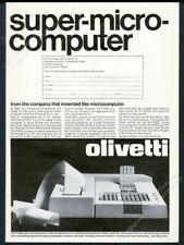 1971 Olivetti P-602 P602 computer photo vintage print ad