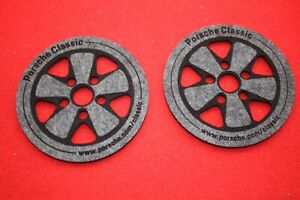 Porsche Fuchsfelge 2er Set NEU & original Filz Untersetzer Classic 911 Shop
