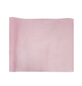 Pink White Polka Dot Confetti Disposable Paper Baby Shower Party Table Runner
