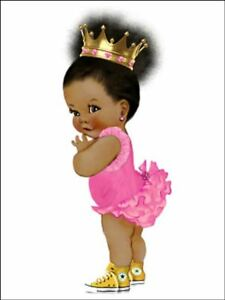 Baby afro puff baby Decor for Cake front Edible Cake Topper Wafer or Icing