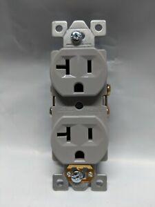(10 pc) NEW Standard Duplex Receptacles 20 Amp GRAY 20A Commercial Grade CR20