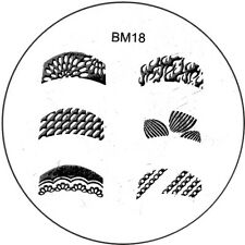 Stamping plaque Bundle Monster BM18 pour vernis ongles