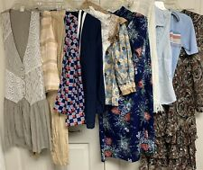 Vintage Ladies 12 pc Clothing Lot Dress Tops Sweater Blazer + S/M/L