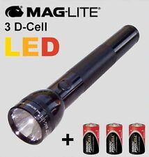 Maglite 3D-Cell Led-Taschenlampe schwarz Nr ST3D015 + Batterien, 3D Led Mag-Lite