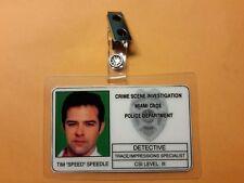 "CSI Miami TV Show ID Badge - Tim ""Speed"" Speedle Prop cosplay costume"