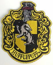 HARRY POTTER Large Movie HUFFLEPUFF Large Crest Iron-On Patch - Cosplay Costume