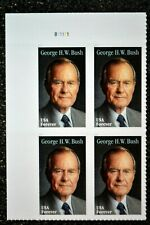 2019USA Forever - George H.W. Bush - Plate Block of 4  Mint  president
