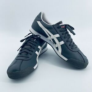 Asics Onitsuka Tiger Pullus Gray & White Leather Sneakers Shoes Men's Size 11