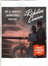 Vintage Cruise Line Brochure CANADA STEAMSHIP LINES 1944 SS RICHELIEU CRUISES