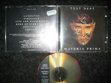 Limited Edition CD Test Dept – Materia Prima  - Industrial Front 242 Department