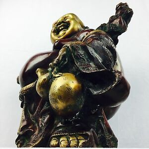 NEW Collectable Brass Traditional Laughing Buddha Art Statue Brass Sculpture