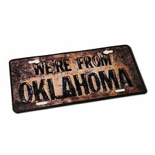 We're From Oklahoma - License Plate Sticker!