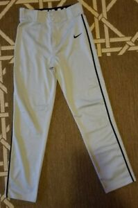 Youth Nike Swoosh Dri-FIT Baseball Pants - Gray with Black Piping - Size XL