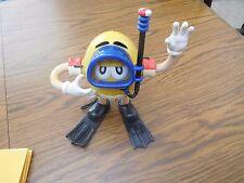 M & M Shower Radio Collectible-- Yellow Peanut Character Swimming Figurine Radio