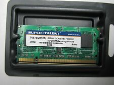 Super Talent 512MB DDR2-667 PC5300 SO-DIMM Samsung 64MX8