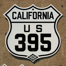 California CSAA US route 395 highway road sign auto club AAA Sierras Lassen Reno
