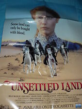 Large Vintage Movie Poster Unsettled Land Video Store Folded