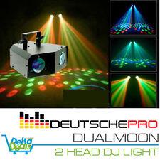 2 HEAD DUALMOON DEUTSCHE PRO Moonflower Effect Light Disco Party DJ DMX