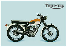 TRIUMPH Poster T20 T20M Mountain Cub Tiger 1966 & 1967 Suitable to Frame