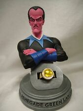 DC DIRECT GREEN LANTERN: SINESTRO PROP RING Replica Set MIB!  Statue Bust YELLOW