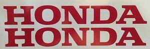 "HONDA (2 PACK) 9"" RED Emblem Vinyl Sticker Honda Civic Decal Motorcycle"