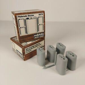 Marklin Mini Club Z Scale 8979 Set of Bridge Columns (set of 2) Vintage NIB