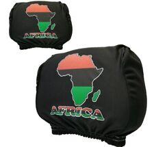 Africa Afro Rasta Vehicle Headrest  Cover Flag Mini Banner Black Power Gift
