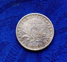MONNAIE ANCIENNE DE 1F SEMEUSE EN ARGENT 1903   A VOIR!!!!