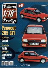 FASCICULE VOITURES PRESTIGE 1/18e SOLIDO  N°8 PEUGEOT 205 GTI