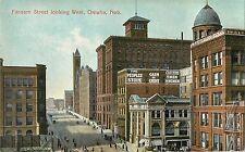 c1910 Farnam Street Looking West, The Peoples Store, Omaha, Nebraska Postcard