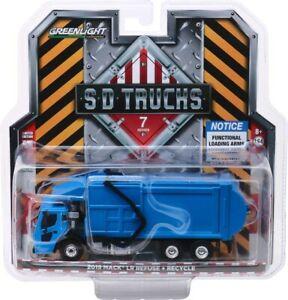 Greenlight 45070-C SD Trucks Series 6-2019 Mack LR Refuse Truck Blue 1/64 Scale