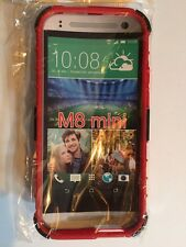 HTC  Red  Armor Dual Colors M 8 One/Mini With Stand Case