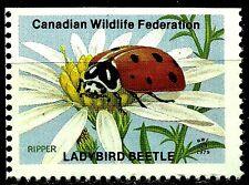 LADYBUG BEETLE, CANADIAN WILDLIFE FEDERATION CINDERELLA, MNH