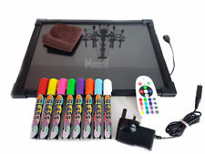 Sensory LED Light up Drawing/writing Board Toy for Special Need Autism ADHD 40 by 60cm