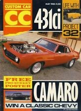 CUSTOM CAR MAY 1988-FREE PRO STREET CAMARO POSTER-PROJECT 32-WIN A 56 CHEVY MAG