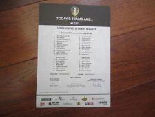 Away Teams C-E Championship Football League Fixtures