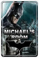 """8""""x12"""" METAL SIGN - Batman 1 Bedroom Door PERSONALIZE Kid's Room Superheros"""