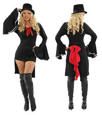 LADIES SEXY MISS VAMPIRE DRACULA FANCY DRESS HALLOWEEN  OUTFIT COSTUME WOMENS