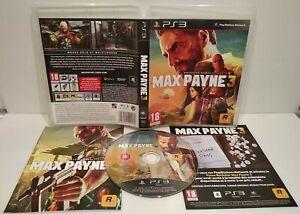 MAX PAYNE 3 - Jeu PS3 - Region Free Dézoné français Complet Très bon état