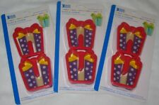 3-D Present Cookie Cutters 2 pc Set Bakery Crafts 3 Packages New